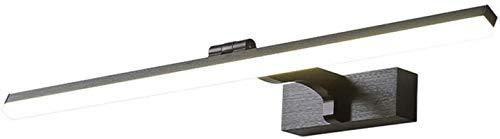 Lámparas de pared industriales, Espejo de baño Luz Ajustable Ángulo Ajustable Nordic Simple Negro Cepillado Aluminio Pintura Rectángulo Shade LED Luz de pared LED Para Vanity Make Up Pantalla de image