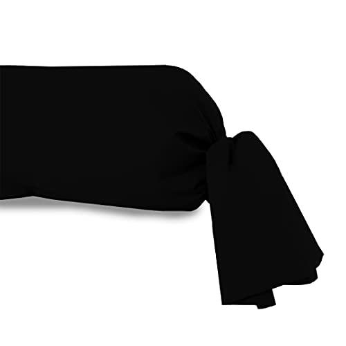 Soleil d'ocre Funda de travesaño 85x130 cm Atmo Uni Negra