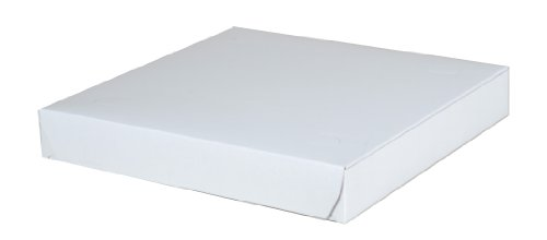 Southern Champion Tray 1409 Clay Coated Kraft Paperboard Pizza Box 10' Length x 10' Width x 1-1/2' Height, White (Case of 100)
