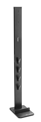 Meliconi Cleaning Tower, Supporto da terra per aspirapolvere dyson, contiene fino a 8 accessori, nasconde i cavi, nero