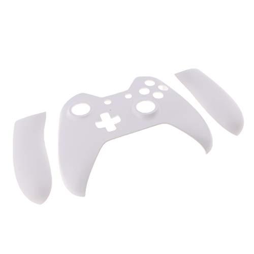 B Blesiya Carcasa Frontal 3 en 1 de Tacto Suave + Panel L R para Controlador Xbox One - Blanco