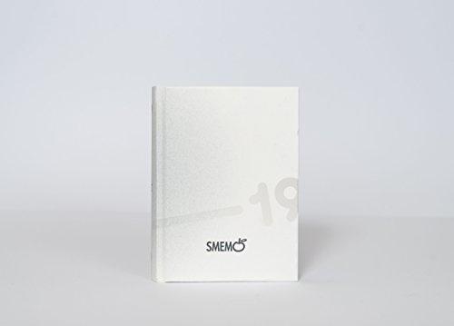 Smemo Diario 2018/2019 Datato 16 mesi, 11x15 cm, Bianco e Grigio