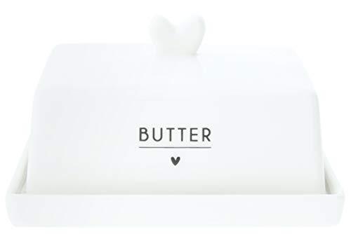 Bastion Collections - Butterdose mit schwarzer Aufschrift