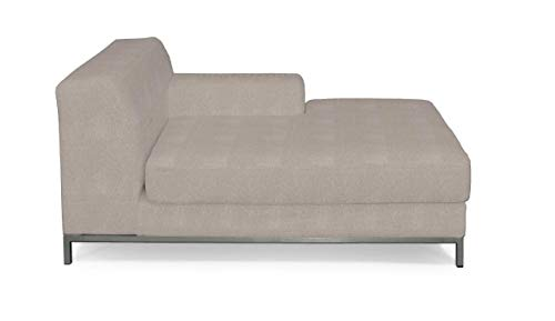 Dekoria Kramfors Recamiere rechts Sofabezug Sofahusse passend für IKEA Modell Kramfors beige-grau