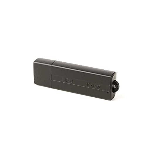 sellgal-tec  MQ-U350plus DE 16GB USB-Stick Diktiergerät Wanze mit Aufnahmeaktivierung durch Geräusche oder Daueraufnahme. Erweiterte Funktionen, anthrazit,