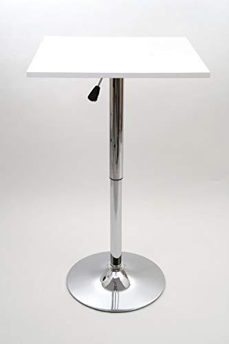 """Bistro-Tisch, weiß, quadratische Holzplatte, höhenverstellbar 84-104 cm -\""""Stuttgart\"""""""