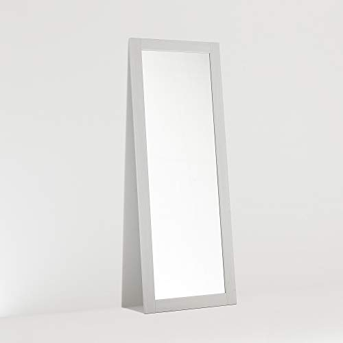 ARHome Specchiera da Terra, 160 x 60 Bianco Frassinato, Specchio Parete Muro, Made in Italy