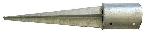 Gartenpirat Einschlagbodenhülse rund Ø 101 mm Stahl 2,5 mm stark Pfostenträger zum Einschlagen