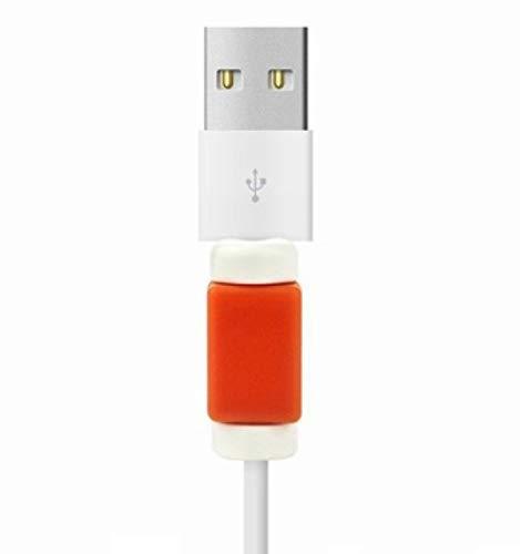 2 x kabelbescherming voor kabel oplader iPad Air Apple anti-breuk universeel (rood)