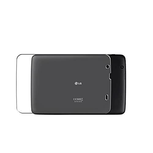 VacFun 2 Piezas Protector de pantalla Posterior, compatible con LG V700 LG G Pad 10.1', Película de Trasera de Fibra de carbono negra Skin Piel