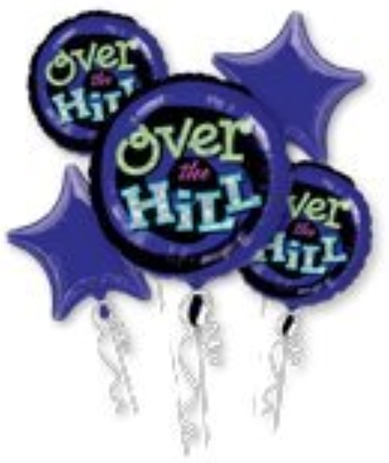 Over the Hill Birthday Balloons  Adult Birthday Balloon Bouquet by American Balloon Company