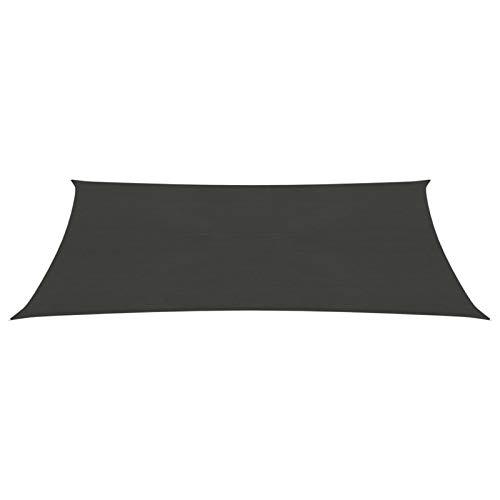 Tidyard Toldo Vela de Sombra protección Rayos UV Impermeable para Patio Exteriores Jardín Toldo de Vela Gris Antracita HDPE 160 g/m² 3x4,5 m