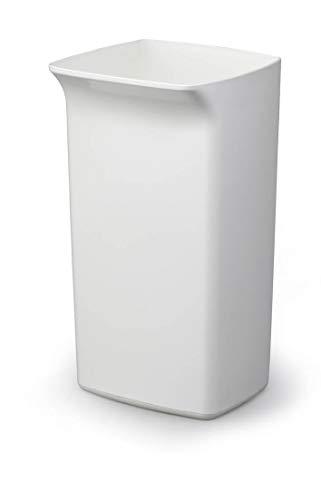 Durable 1800798010 Poubelle Durabin Square 40 litres, blanc
