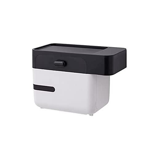 Caja de pañuelos de plástico para toallitas húmedas para bebés Caja de almacenamiento de papel Dispensador de toallas de papel para el hogar Organizador de servilletas