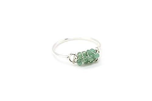 Ring der Smaragde in Silber 925, Edelstein schmuck, Geburtstagsgeschenk für Mädchen, Frau, Freundin, handgefertigt in Spanien - Llavizna