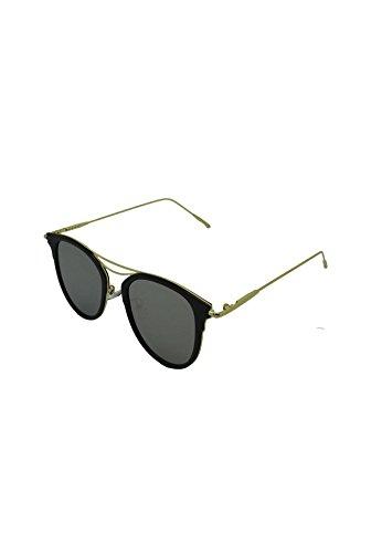 Finecy In - Nieuwe Mannen Vrouwen Unisex Gespiegelde Kat Oog Retro Vintage Mode Stijlvolle Zonnebril