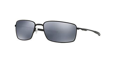 Oakley OO4075 Square Wire Sunglasses with Accessories Bundle (Matte Black/Black Iridium Polarized (407505)