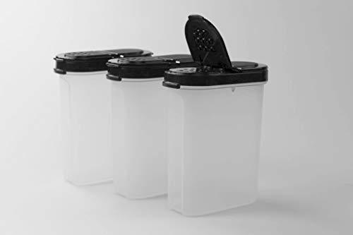 Tupperware Gewürz-Riese 270 ml (3) schwarz Gewürz Behälter Gewürzbehälter groß