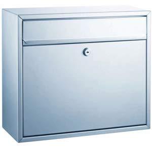 Alco Briefkasten 31x36x15cm Silber lackiert