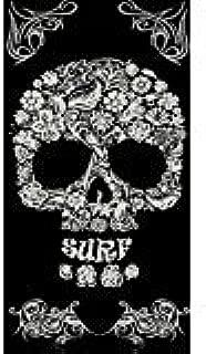 Toalla de Playa con dise/ño de Calavera y Flores 95 x 175 cm Sun and Surf