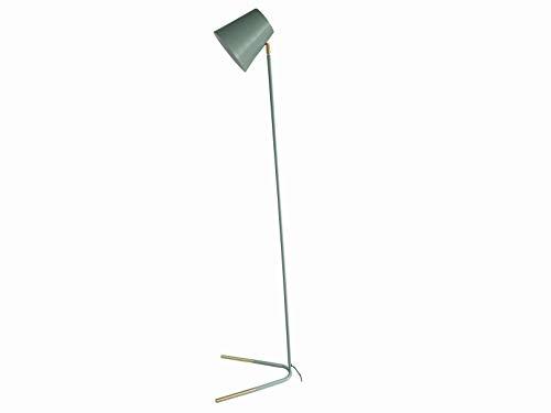 Leitmotiv Stehleuchte Noble lmetall dunkelgrün mit Goldakzente,40x30,5x150cm