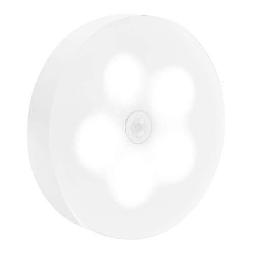 Luz de Sensor de Movimiento LED, luz de Sensor de Movimiento práctica y práctica Recargable, tamaño pequeño para Sala de Estar, Dormitorio, Armario