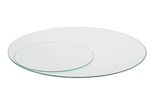 Glasplatte Rund Tischplatte Klarglas Kreis 5mm stark Ø 55 cm Durchmesser Scheibe aus Glas für Küchentisch Schreibtisch Gartentisch Stehtisch Sofatisch Glasscheibe Tisch 5mm-klarglas-55cm