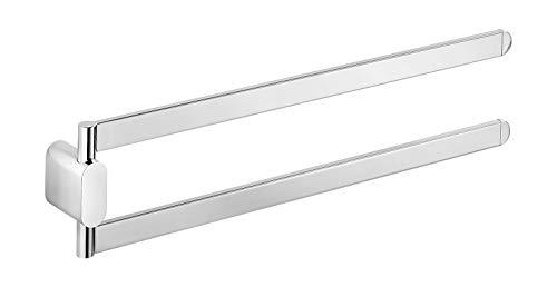INDA A20150CR Mito - Toallero de Doble articulación (latón, Cromado, 40 x 2 x 9 cm)