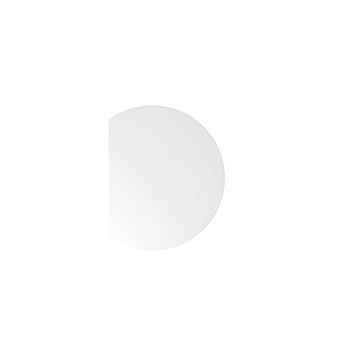 Preisvergleich Produktbild Hammerbacher Anbauplatte / Rund / 80 x 100 cm / Weiß / VXBA80 / W / W - Zubehör equipment