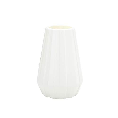 Noband JSFGFSDH Jarrón geométrico de plástico de imitación de cerámica para macetas de flores de decoración del hogar.