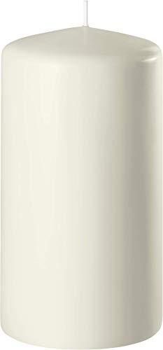 safe candle candele a colonna autoestinguenti, 4 pezzi, Altezza 8 cm / Ø 6 cm, Tempo di combustione 27 ore (100x60mm, Bianco lana)