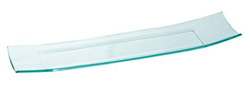 INNA-Glas Lot 6 x Coupelle rectangulaire en Verre Jerry, Transparent, 43,5x9,5cm - Plat de présentation - Plat de Service