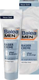 Balea MEN Rasiercreme sensitive, 1 x 100 ml