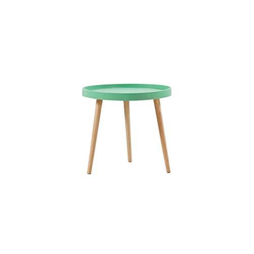 Petite Table Basse Table Basse Ronde Mini Table de Chevet Table Ronde en Bois Massif matériel Chic