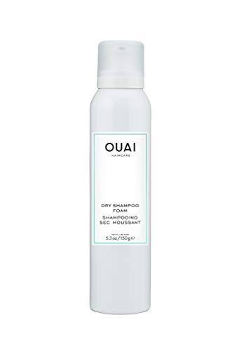 OUAI Dry Shampoo Foam. Cleanse, Remove Product Buildup and Refresh Hair with Instant Volume and Shine. Scented with Bergamot, Rose and Violet. Free from Parabens and Sulfates (5.3 oz)