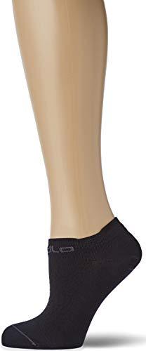 Odlo Damen Short Ceramicool Ladies Low Cut Li Socken, Black Graphite Grey, 42-44