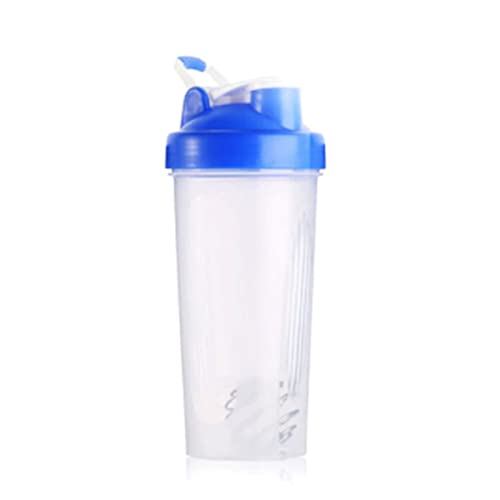 WxberG Shaker Bottle, 20oz - Leak Proof Mixer Cup with Stainless Steel Blending Ball - Mixing Bottles for Protein Shakes - Set of 2 (Color : Blue)