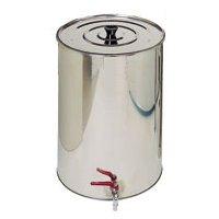 Quattroeffe Serbatoio Botte in Acciaio Inox da 50 Litri