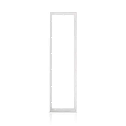 Aufbau Aufputz Steckrahmen Weiß für LED Panel 120x30 cm schraubenlose einfache Montage! Deckenaufbaurahmen Deckenmontage Aufputzrahmen weiß Aluminium Montagerahmen Xtend PL-Z