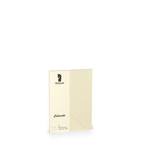 Rössler Papier - - Coloretti-5er Pack Briefumschläge B6, creme - Liefermenge: 1 Stück