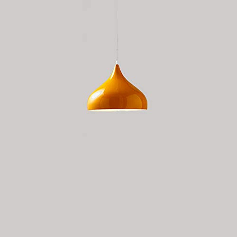 Beleuchtung Innenbeleuchtung Schlafzimmer Wohnzimmer Cafe Bar Friseur Hot Pot Shop Single Head Kronleuchter, 10 × 100 × 25cm, Orange