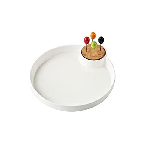 FXJ Tazón de Fuente de Fruta de cerámica Bandeja de Almacenamiento Moderno Placa de Fruta Pastel de Fruta Placa de Postre (Color : B)