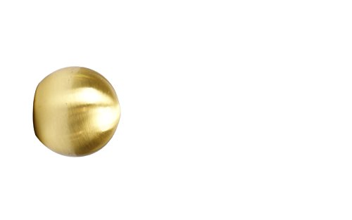Endstück Kugel in Messing Optik für 16 mm Ø Gardinenstangen - Set 2
