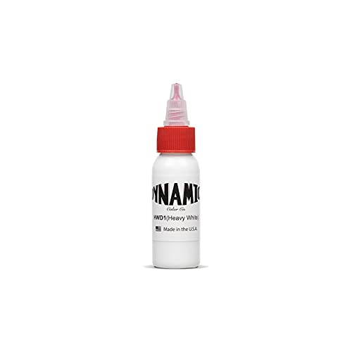 Dynamic Tattoo Ink Color Heavy White 1oz by Dynamic