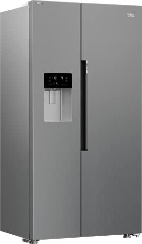 Beko GN162341XBN-Side-by-Side Kombination-NoFrost/Multifunktionsdisplay/Harvest Fresh/Ice- & Wasserspender mit Festwasseranschluss/179x91x72 cm