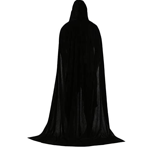 ZXLRH Capa con Capucha Unisex, Capa Completa para Disfraces de Cosplay de Halloween, Bata con Capucha, Capa de Caballero, Disfraz de Cosplay Elegante y Fresco