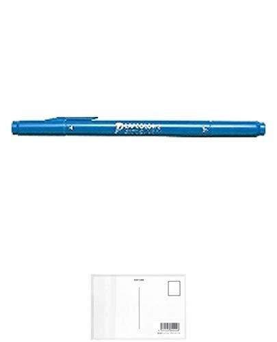 トンボ鉛筆 水性ペン プレイカラー2 WS-TP44 薄青緑 【× 4 本 】 + 画材屋ドットコム ポストカードA