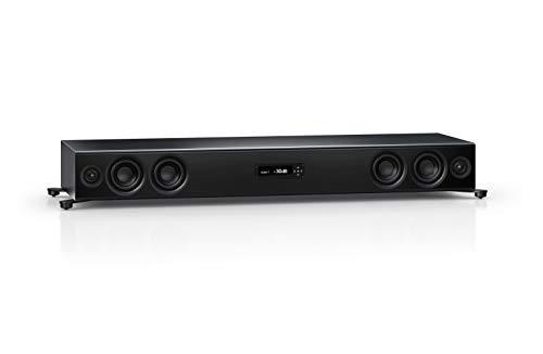 Nubert nuPro XS-7500 Soundbar | TV-Lautsprecher mit Bluetooth aptX HD | Soundbase für klare Stimmen | Stereoboard mit 3.5 Wege Technik | aktive Soundplate für HiFi & Musikgenuss | Sounddeck Schwarz