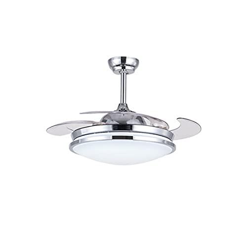 LGOO1 Lámpara Invisible con Control Remoto, luz LED Moderna para Ventilador de Techo, lámpara de Ventilador Regulable de 42 Pulgadas, 3 lámparas de Ventilador de 3 Colores cambiables y 3 de Velocidad