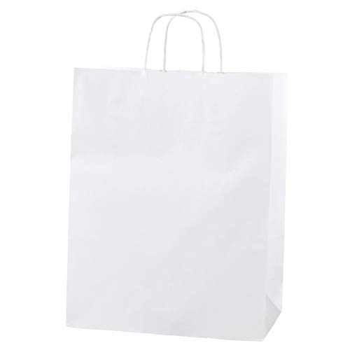 Thepaperbagstore 20 Bolsas De Papel Blancas, Reciclables Y R